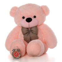 4ft Lady Cuddles Super Soft Huggable Pink Teddy Bear