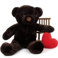 5ft Munchkin huggable gift Chubs Dark Brown Teddy Bear
