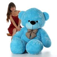 72in Happy Cuddles Blue Teddy Bear