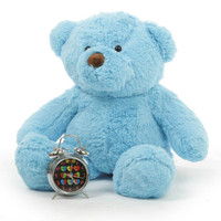 Sammy Chubs Extra Plump and Adorable Sky Blue Teddy Bear 24in