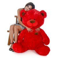 Huge Red Teddy Bear in Sitting Position by Giant Teddy Brand