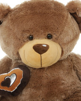 Baby Cakes Big Love Cuddly Soft Mocha Brown Teddy Bear 36in