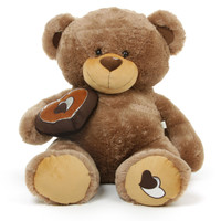 Baby Cakes Big Love Soft Mocha Brown Teddy Bear 42in