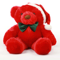 Riley Chubs Red Teddy Bear 30in with Santa Hat