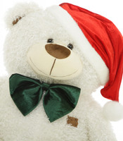 Joy Fluffy Shags 35 inch: The Jolliest Big White Christmas Teddy Bear Gift this Holiday Season!