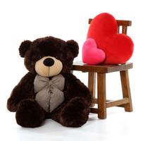 38in Huge Teddy Bear Brownie Cuddles has Soft Chocolate Brown Fur