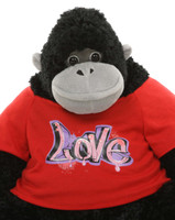 Lil Adonis Cutie 27 inches -  A Charming Big Stuffed Gorilla with Shirt!