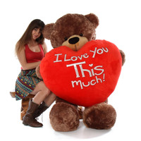 This giant Valentines day teddy bear means business!