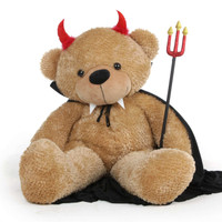 Teddy Bear in Devil Costume