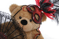 2 Foot Masquerade Teddy Bear