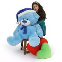Blue 4 ft Teddy Bear Christmas Gift