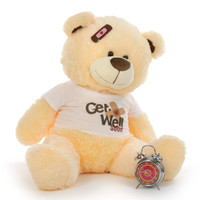 "35"" Get Well Soon Vanilla Teddy Bear"