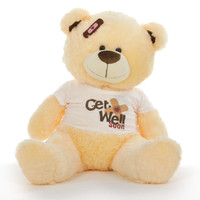 "35"" Get Well Soon Teddy Bear, Vanilla"