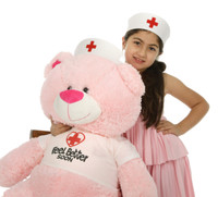 Nurse Lulu Shags 45in Giant Pink Teddy Bear