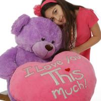 Purple Sewsie Big Love 30in (Close Up)