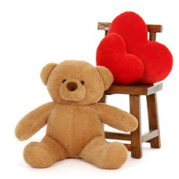 Teddy Bear Extra Plump and Adorable Amber  30in Cutie Chubs