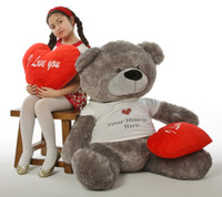 Diamond Shags Valentine's Day Teddy Bear - 52in (Just hangin')