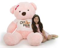 5ft Get Well Soon Pink Teddy Bear, Gigi Chubs