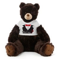 2½ ft Baby Tubs Cuddly Dark Brown Prom Teddy Bear (Prom? - Tuxedo)