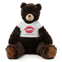 3½ ft Baby Tubs Cuddly Dark Brown Prom Teddy Bear (Prom 2014 - Red Lips)