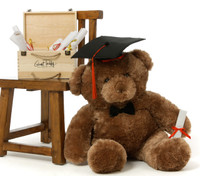 Huge 2 ½ ft Graduation Teddy Bears with Grad Hats and Diplomas