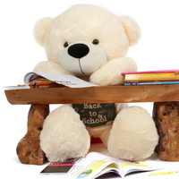 Adorable Super Soft Cream Teddy Bear - Back to School Gift