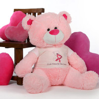4 Foot Pink Giant Teddy Lulu Shags against Breast Cancer