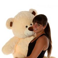 Giant Cream Teddy Bear 37 inch Tall