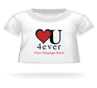 Heart U Forever Personalized Teddy Bear Tshirt