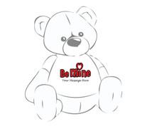 Personalized 'Be Mine' Valentine's Day Giant Teddy Bear Shirt