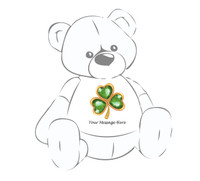 Personalized St. Patrick's Day Clover Giant Teddy Bear Shirt