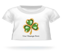 St. Patrick's Day Clover Giant Teddy Bear Personalized Shirt