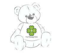 Personalized St. Patrick's Day Heart 4 Leaf Clover Giant Teddy Bear Shirt