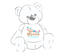 """Personalized """"Spring is here!"""" w/birds & hearts Giant Teddy Bear shirt"""