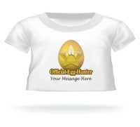 """Official Egg Hunter"" Giant Teddy bear Personalized shirt for Easter"