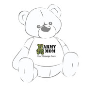 Camouflage Bear Army Mom Personalized Giant Teddy Bear shirt