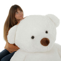 Giant Teddy White Sprinkle Chubs 6ft Bear (Model is NOT included)