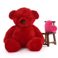 6ft  softest Life Size Plush red teddy bear Riley Chubs by Giant Teddy