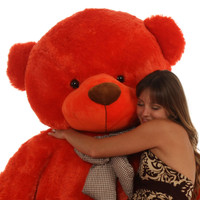 6ft Huge Life Size Teddy Bear Lovey Cuddles heavenly soft  beautiful orange red fur