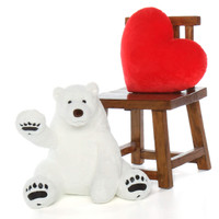 Big White soft cuddly Polar Bear 24in  Snowball Frost