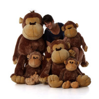 5ft Life Size Giant Stuffed Monkey Big Daddy from Giant Teddy brand