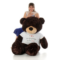 Life Size 60in girlfriend Prom  Teddy Bear Brownie Cuddles Chocolate Fur
