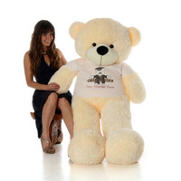 Graduation Gift 60in Vanilla teddy bear Class of 2018