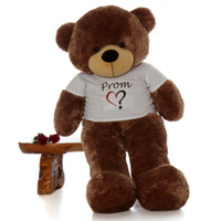 5ft Prom Teddy Bear Mocha Sunny Cuddles