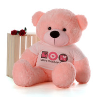 4ft Life Size Happy Mother's Day teddy bear famous pink Lady Cuddles