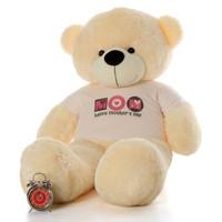 60in Happy Mother's Day teddy bear vanilla cream Cozy Cuddles