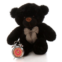 30in Juju Cuddles Black Teddy Bear