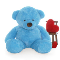72in Big Blue Teddy Bear Sammy Chubs amazing gift