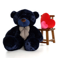 5ft Giant Teddy Bear Navy Blue Soft and Cuddly Friend