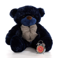 38in Royce Cuddles Giant Teddy Navy Blue Bear